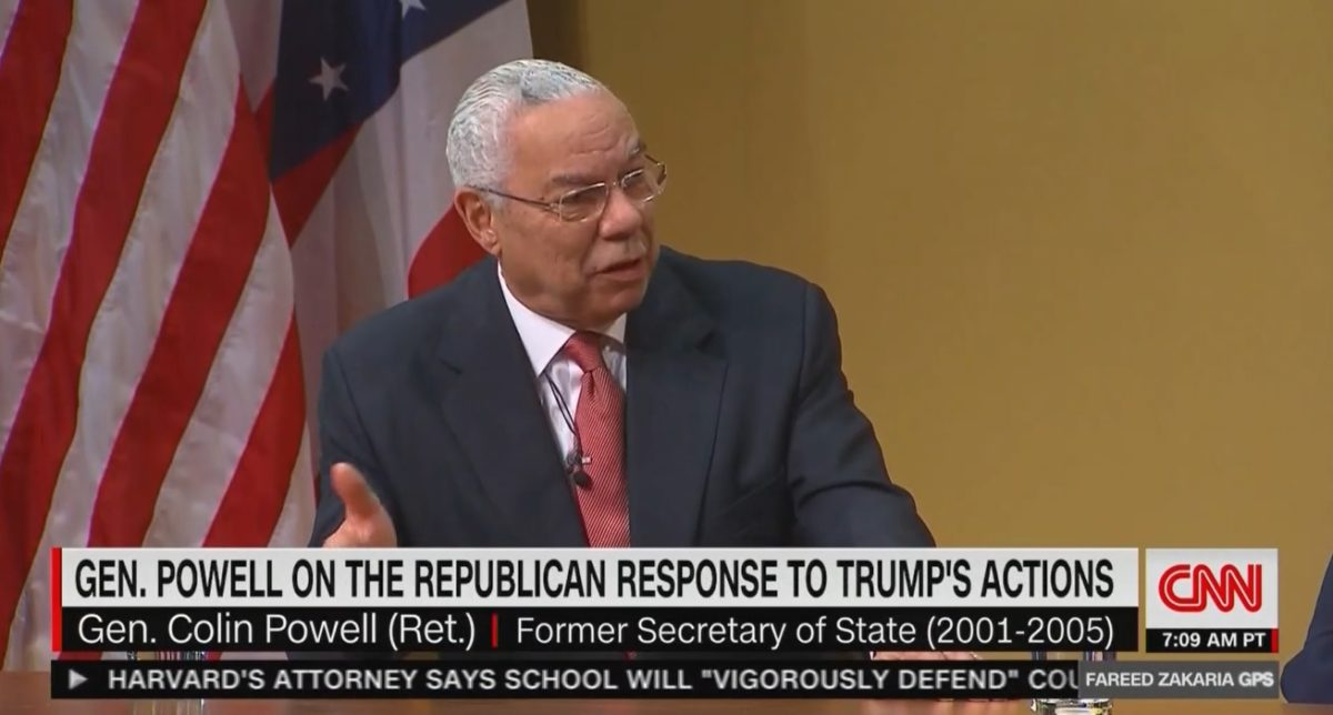 Image result for colin powell new york times on trump