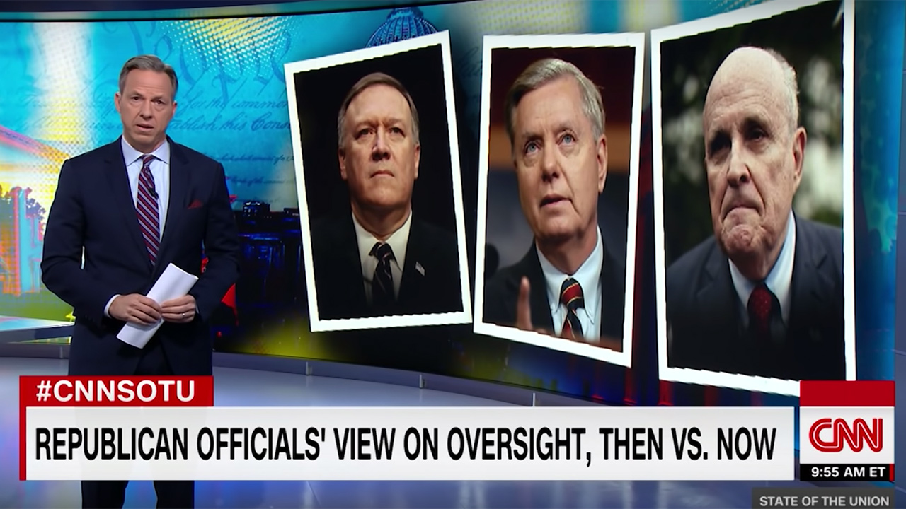Jake Tapper: Republican Officials Who Demanded Oversight in Past Now 'Trash-Talking' Attempts at WH Oversight