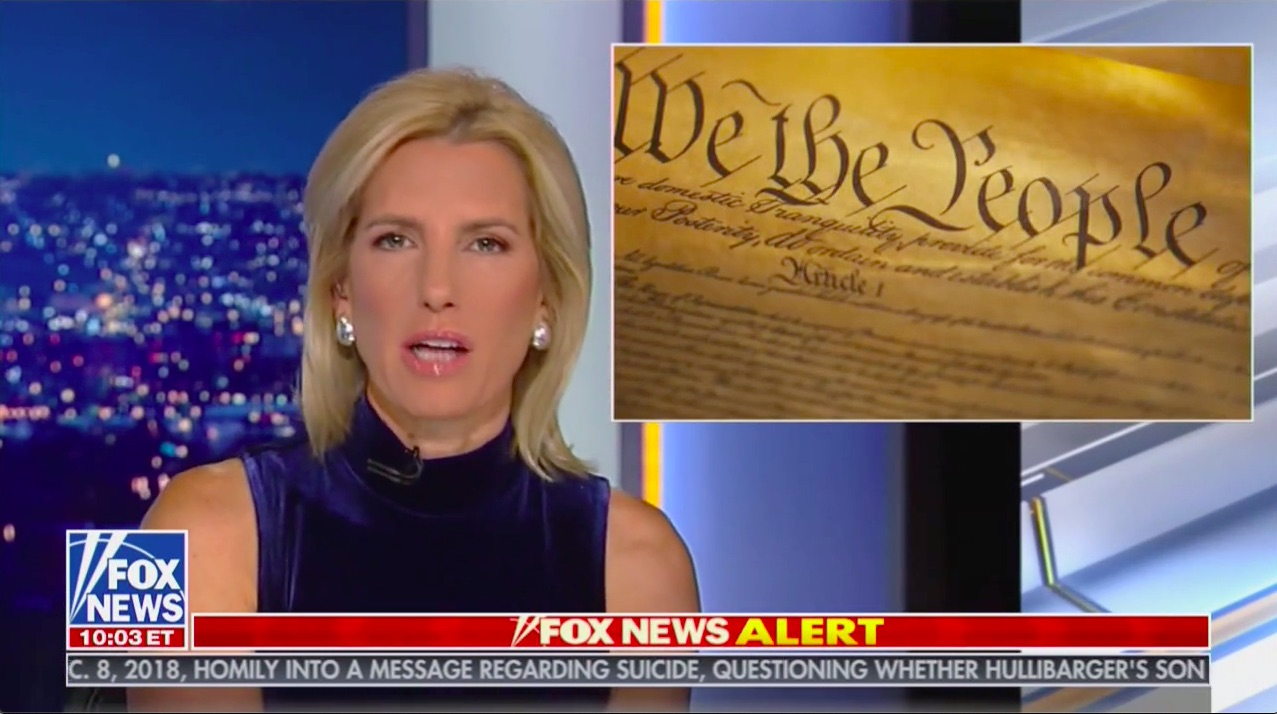 Laura Ingraham Defends Trump: 'Attempted Bribery' Is Not Listed as Impeachable Offense in the Constitution