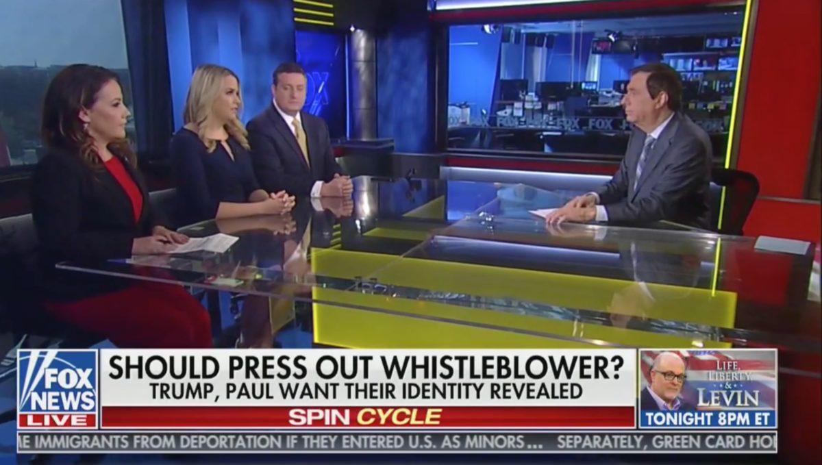 Watch the Stunned Reaction of Fox News' Howard Kurtz After a Fox News Contributor Names the Whistleblower