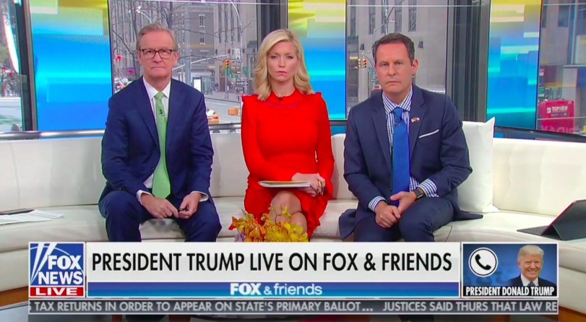 Trump Flustered by Fox &; Friends Questioning Giuliani Mess in Ukraine: 'That's Not True!'
