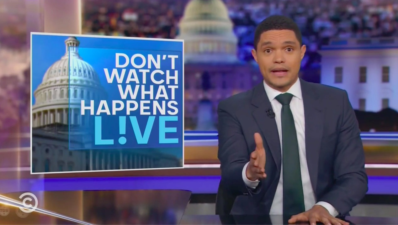 Trevor Noah Mocks Fox News' Nothing-to-See-Here Impeachment Coverage: 'Straight-Up Trying to Hypnotize Their Viewers'