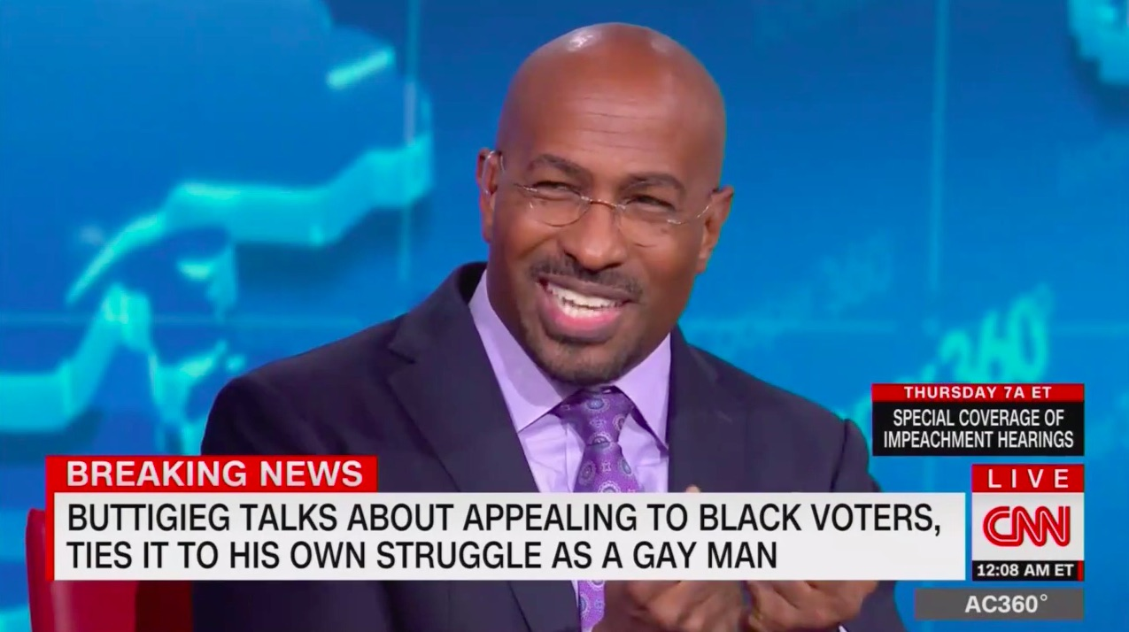 Watch CNN's Van Jones Cringe at Pete Buttigieg's Awkward Outreach to African-Americans: 'He Falls Off a Cliff' on Racial Issues