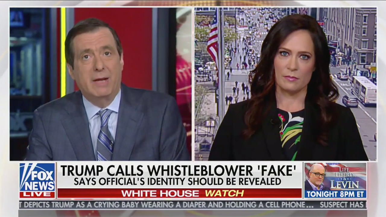 Fox's Kurtz to WH Press Sec Grisham: Couldn't Trump Calling for Whistleblower to Be ID'd Send a 'Chilling Message'?