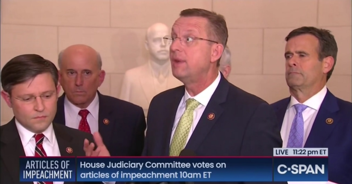 Watch GOP Rep. Doug Collins Melt Down After 'Crap' Impeachment Hearing, Calls Speaker 'Miss Pelosi'