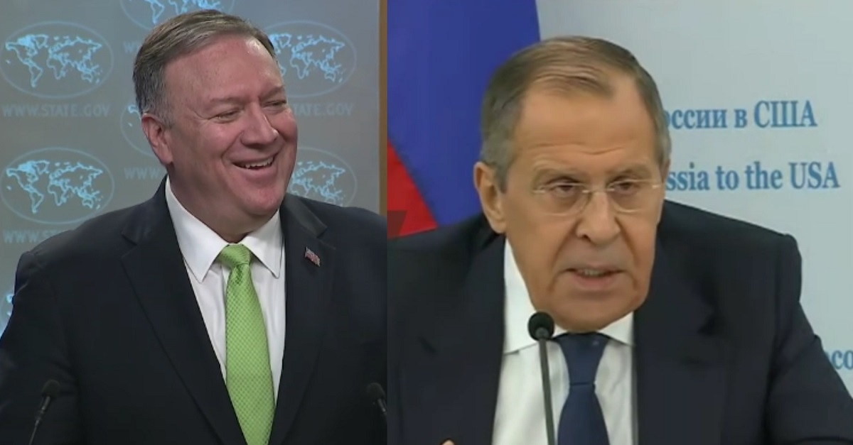 He Said, He Said: Russian Foreign Minister Says Trump Didn't Warn About Election Interference, Pompeo Says He Did