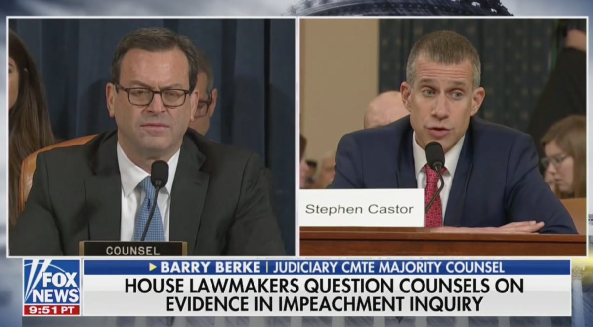 Impeachment Hearing Goes Off the Rails After GOP Counsel Argues Biden is NOT Trump's Political Rival