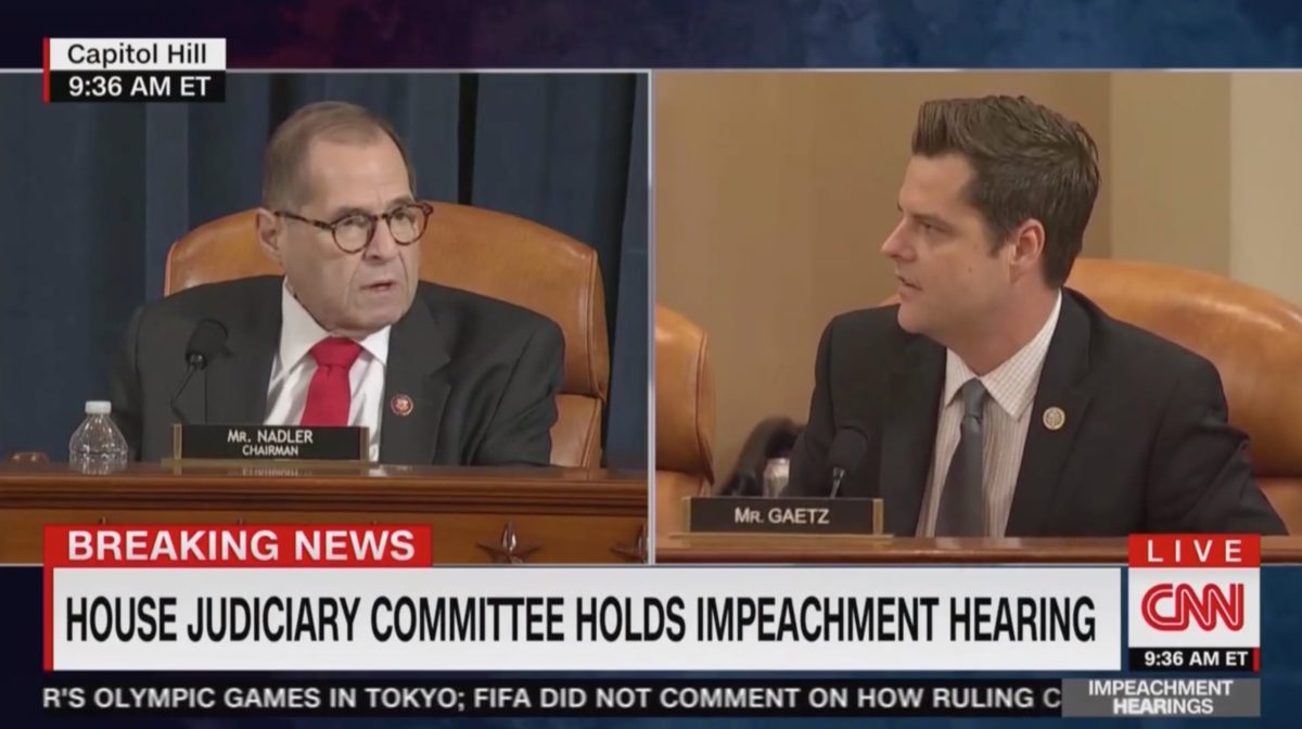 FIREWORKS! Impeachment Hearing Explodes Right Out of the Gate as Matt Gaetz and Jerry Nadler Collide