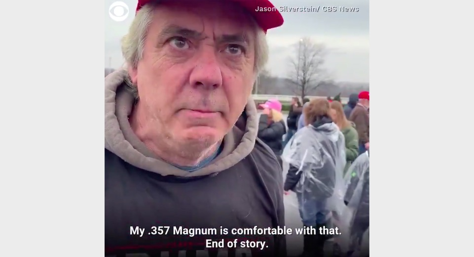 CBS Airs Insane Video of Trump Supporters Suggesting Violence if President is Removed: 'My .357 Magnum' Says He Won't Be