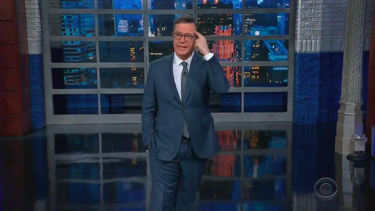 Stephen Colbert Mocks Giuliani's 'Savvy Lawyering' Trip to Ukraine: 'His Brain Had to Go and Rudy Things Up'
