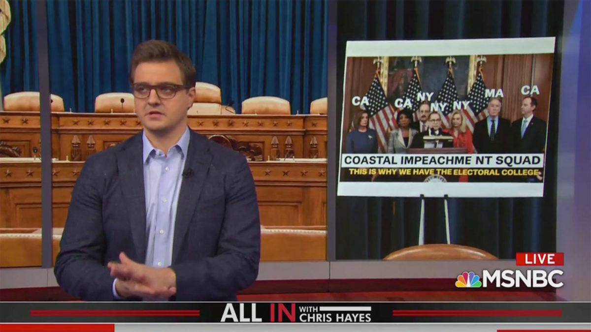 Chris Hayes: Impeachment Comes Down to Trump Getting Caught 'Cheating' to Win, and GOP Just Doesn't Care