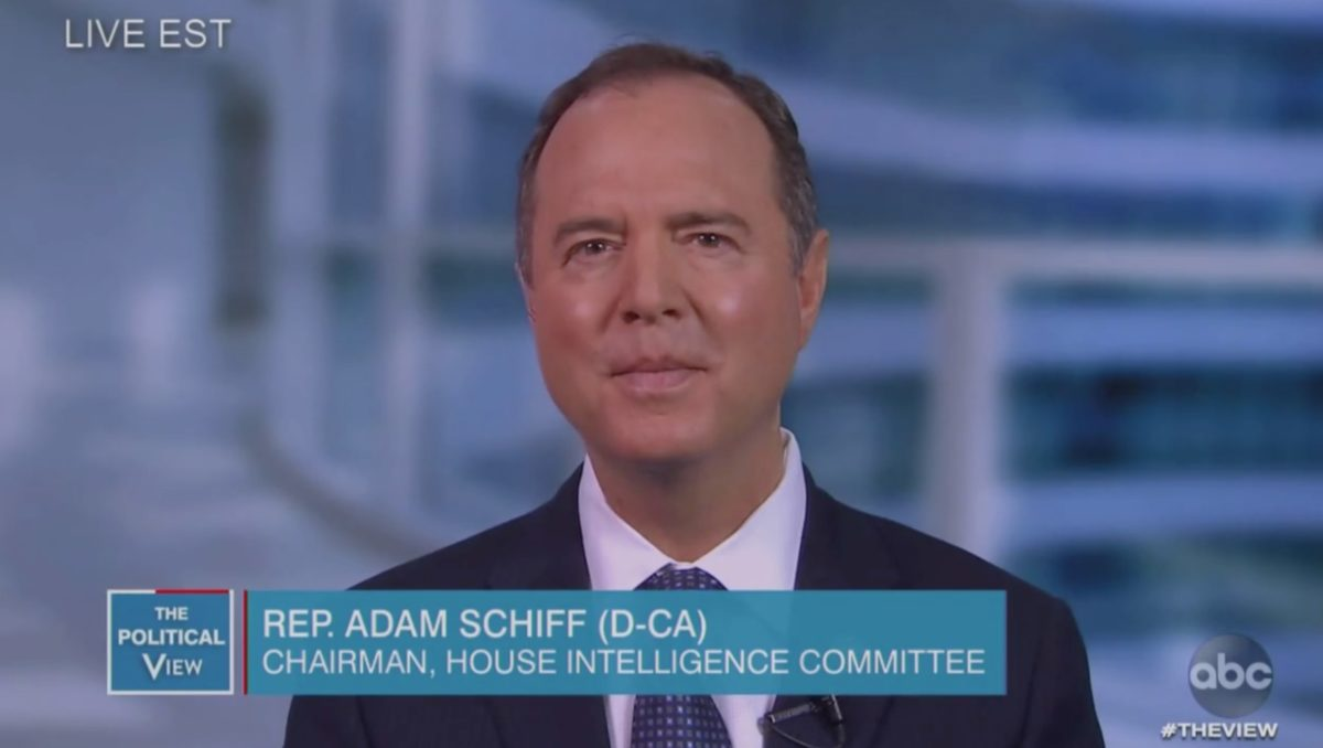 Adam Schiff: 'Embarrassing' Trump Entrusted Iran Intel to Lindsey Graham 'Either On the Golf Course or at the Buffet Line'