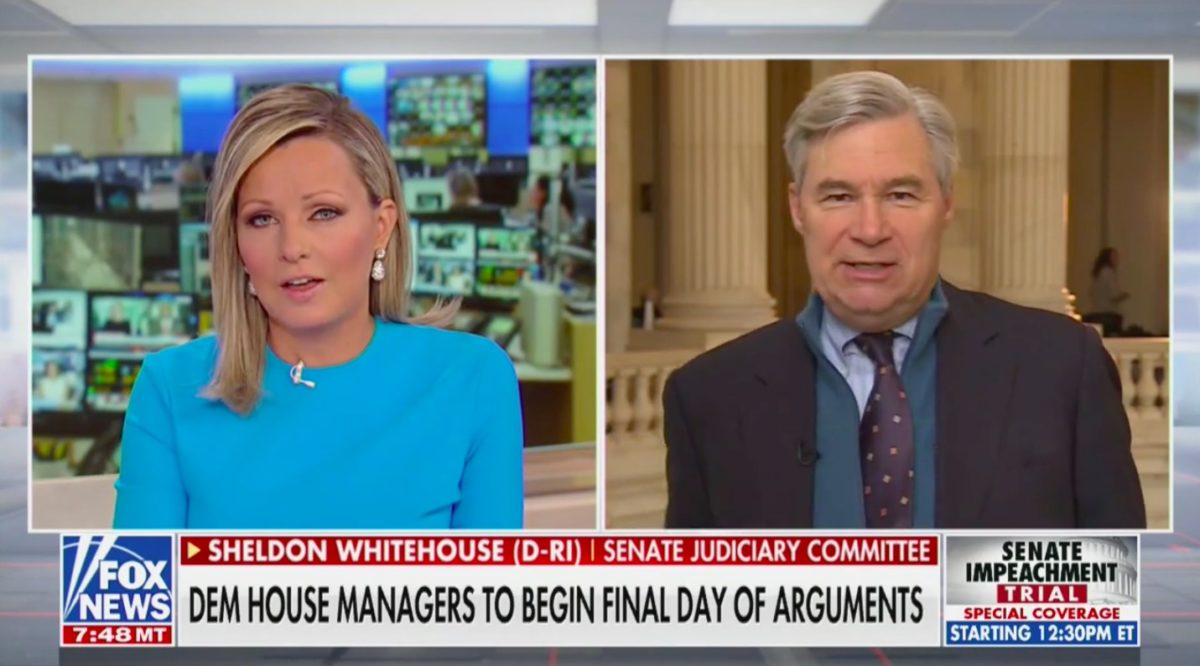 Sen. Whitehouse Swats Away Fox Anchor Asking Why Trump Trial is Repetitive: That Isn't 'A Sensible Complaint'