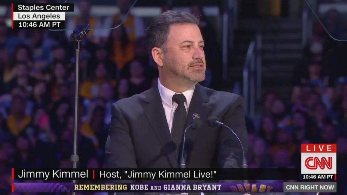 'This is a Sad Day:' Jimmy Kimmel Mixes Tears With Humor at Memorial for Kobe, Gianna Bryant