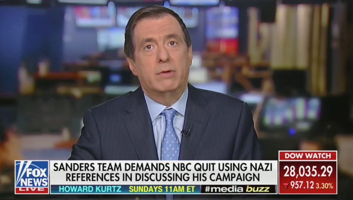 Fox's Howard Kurtz: 'Chris Matthews Should Apologize to Bernie Sanders'
