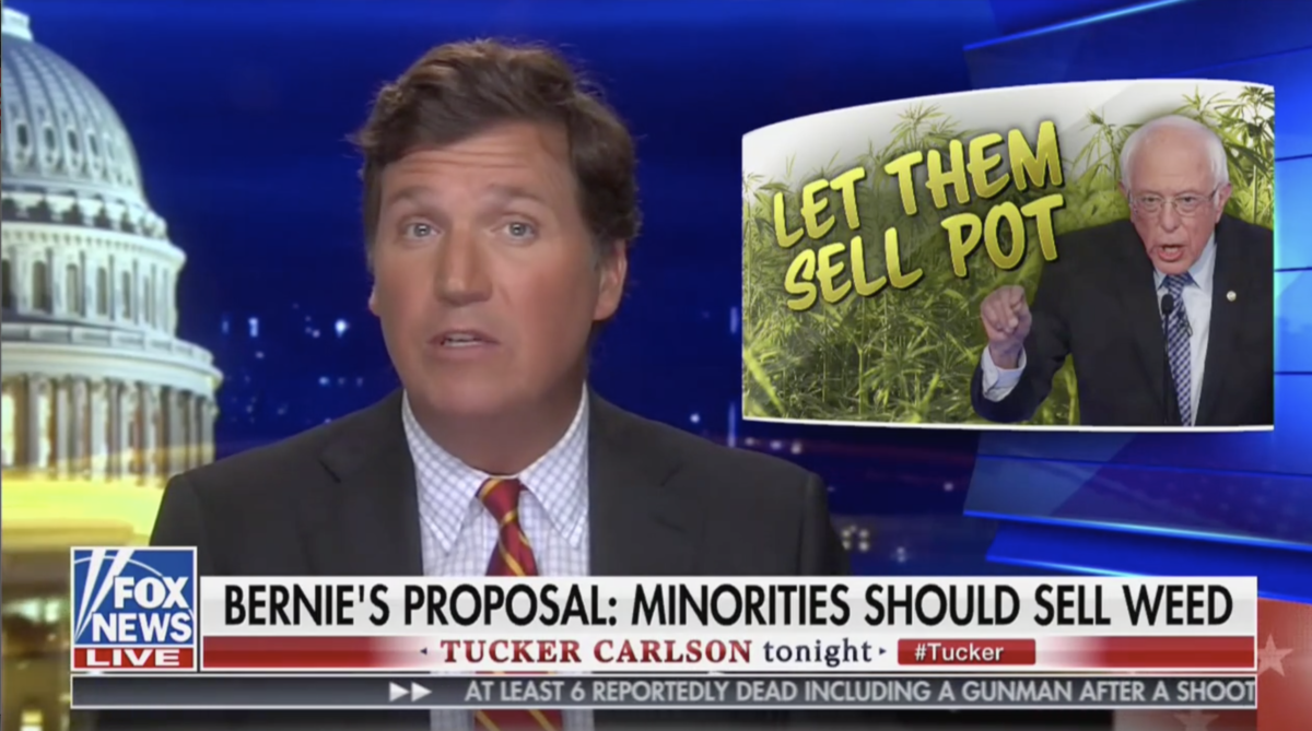 Tucker Carlson Says Bernie Sanders Response To The Unemployed Middle Class Is Weed: 'Fire Up A Bowl, Numb Out'