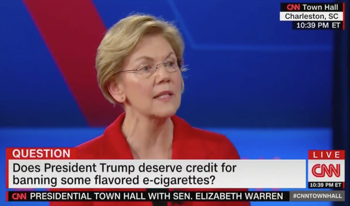Elizabeth Warren Says Trump Deserves Credit For This Policy at CNN Town Hall