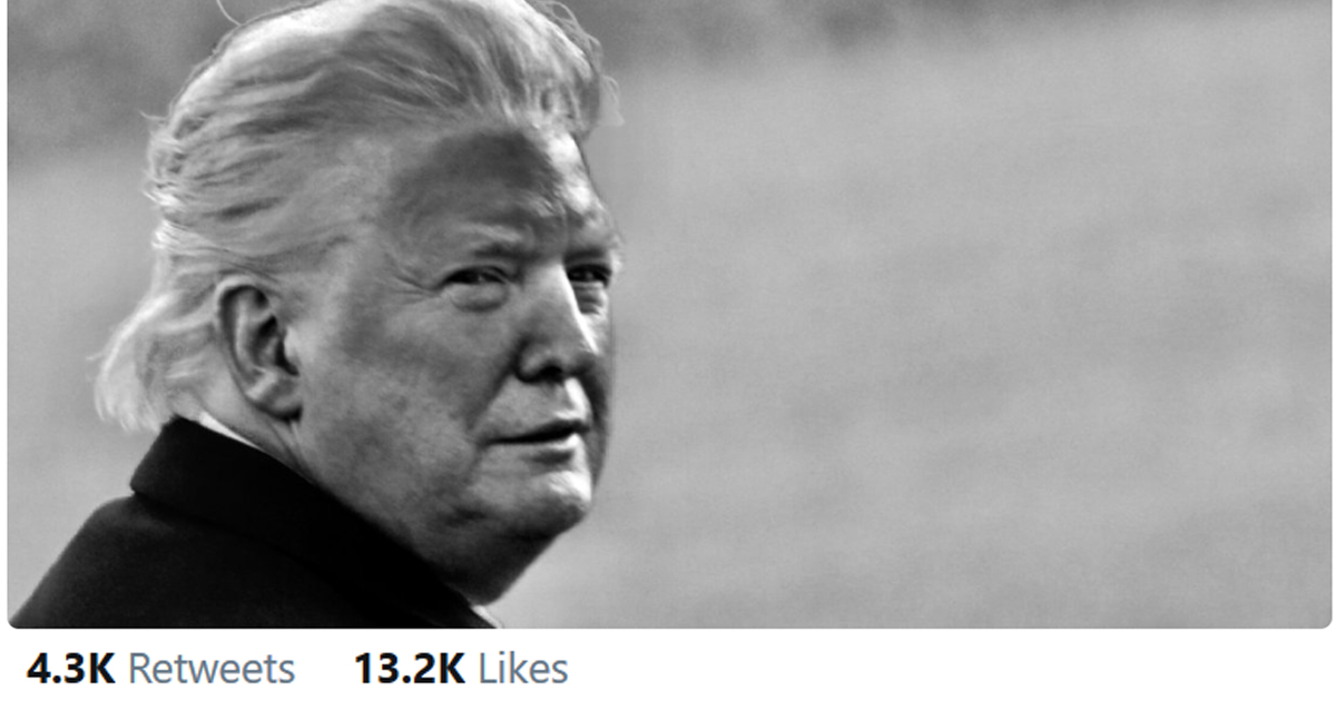 Was It? But Trump His of Face Claims Photo Photoshopped Was