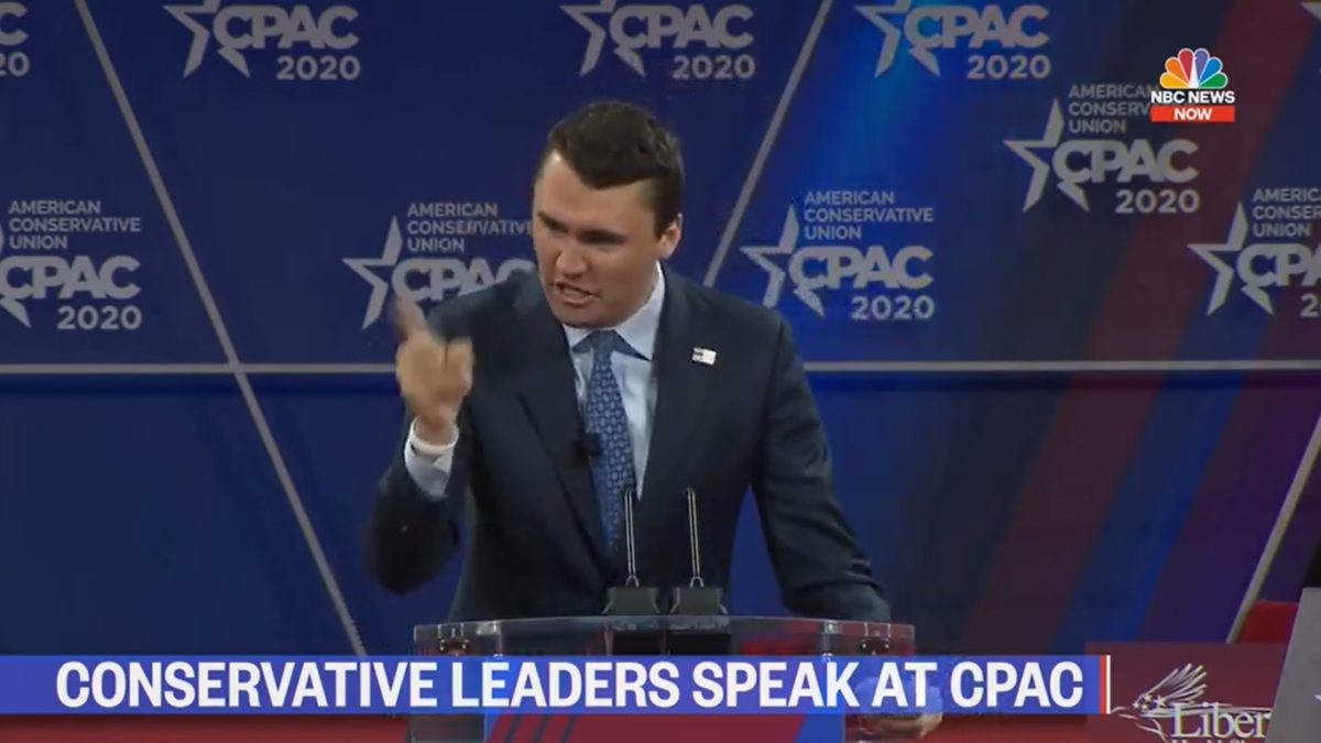 Charlie Kirk Has Meltdown Over Mitt Romney During CPAC Speech, Encourages Crowd to Boo Him