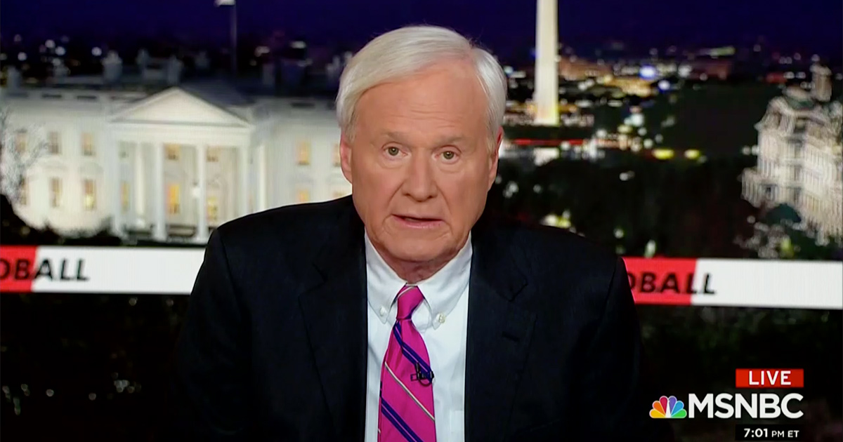 Chris Matthews Issues On-Air Apology to Bernie Sanders: 'I Was Wrong'