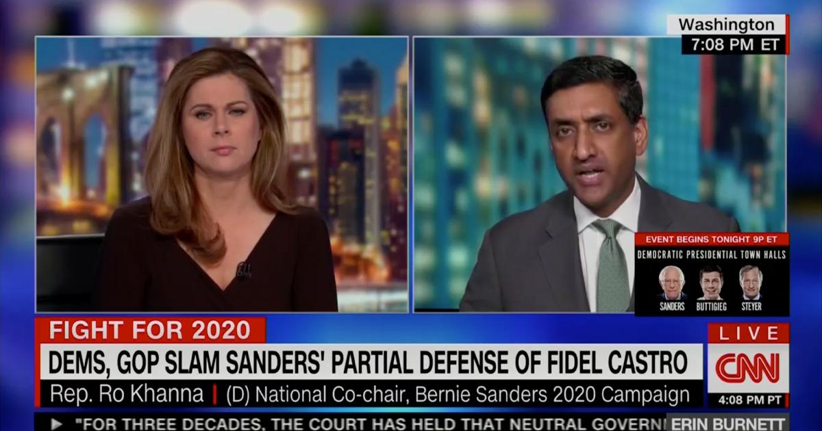 Ro Khanna Defends Bernie Sanders' Cuba Comments