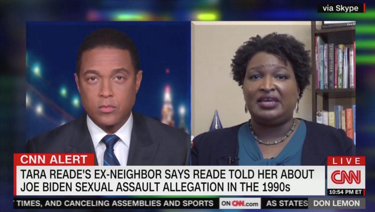 Stacey Abrams Denies Double Standard on Joe Biden Claims