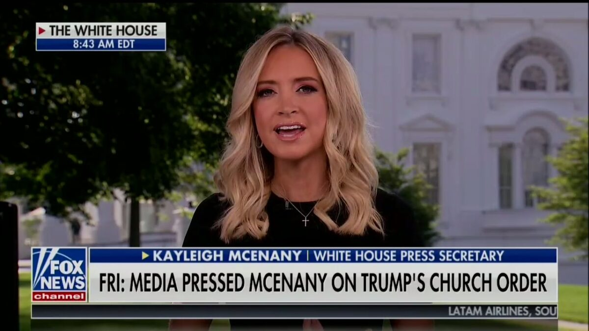 'Journalistic Malpractice': Kayleigh McEnany Defends Scolding Reporters on Churches and Michael Flynn