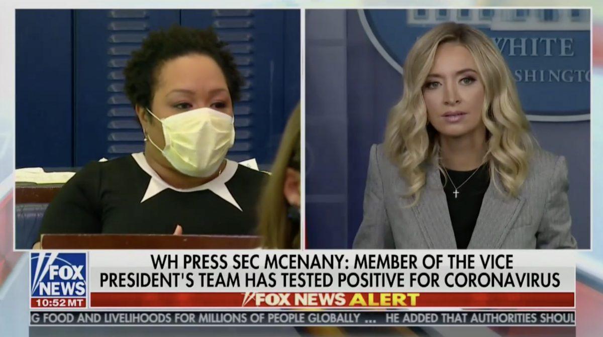 WH press secretary Kayleigh McEnany throws major shade at