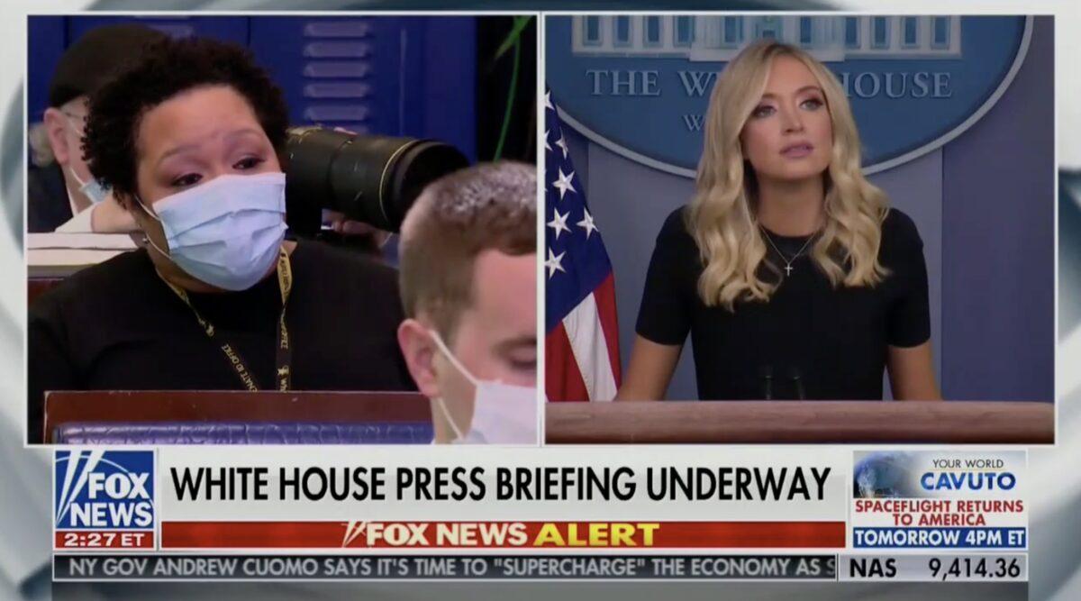 WATCH: PBS' Yamiche Alcindor Grills McEnany on Trump's Scarborough Tweets, Press Secretary Frantically Uses Her OAN Lifeline