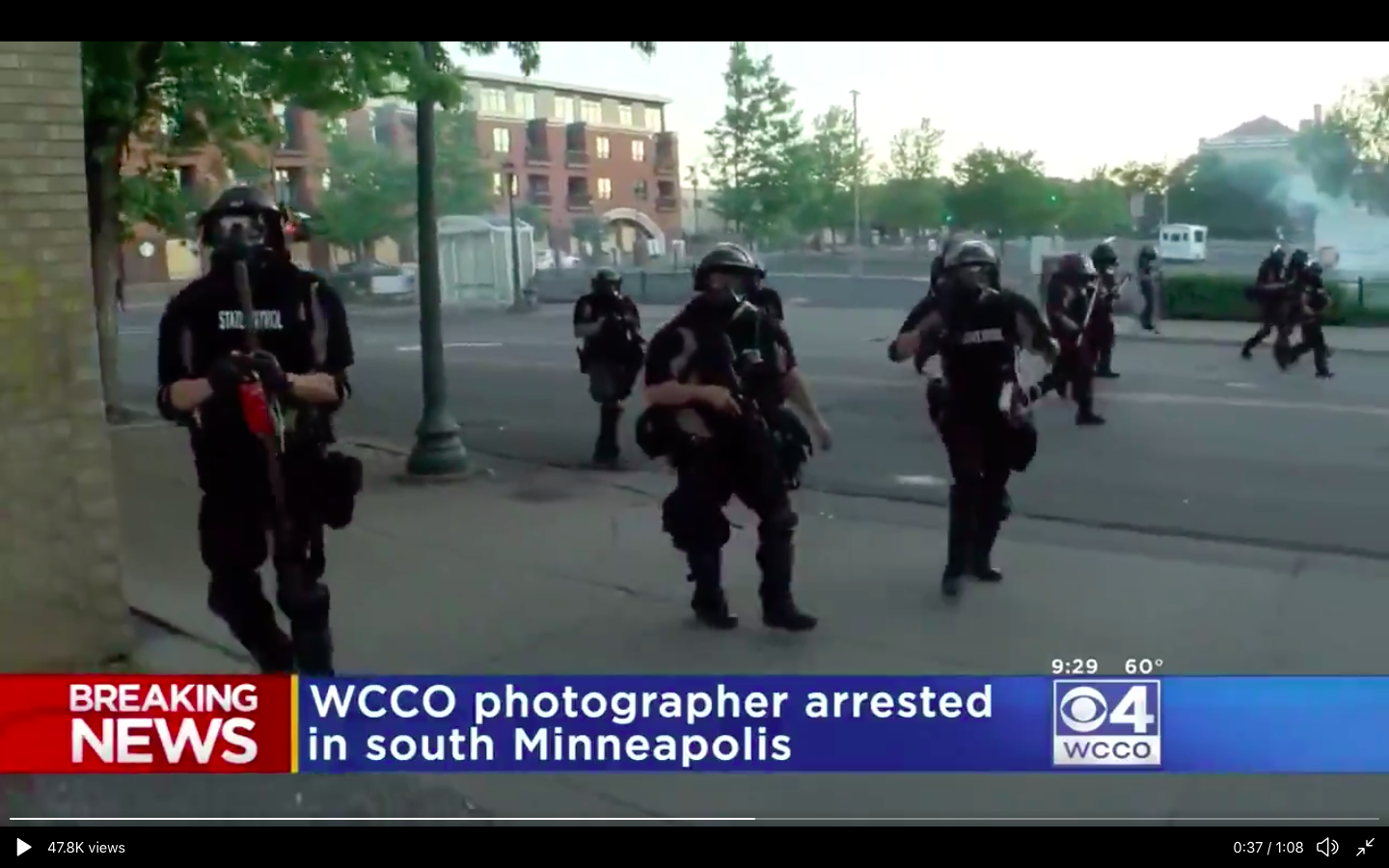 Minneapolis Reporter Shot With Rubber Bullet Arrested