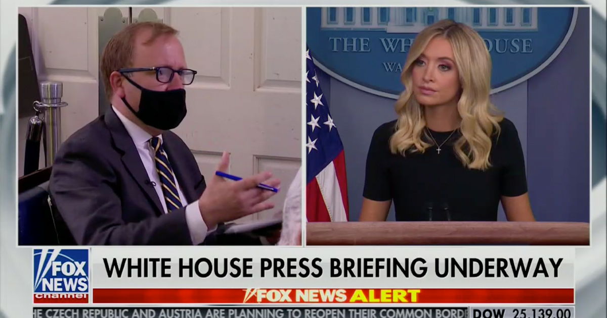 'This is Pretty Nuts': Kayleigh McEnany Bombarded With Questions at Press Briefing About Trump's Scarborough Conspiracy Tweets