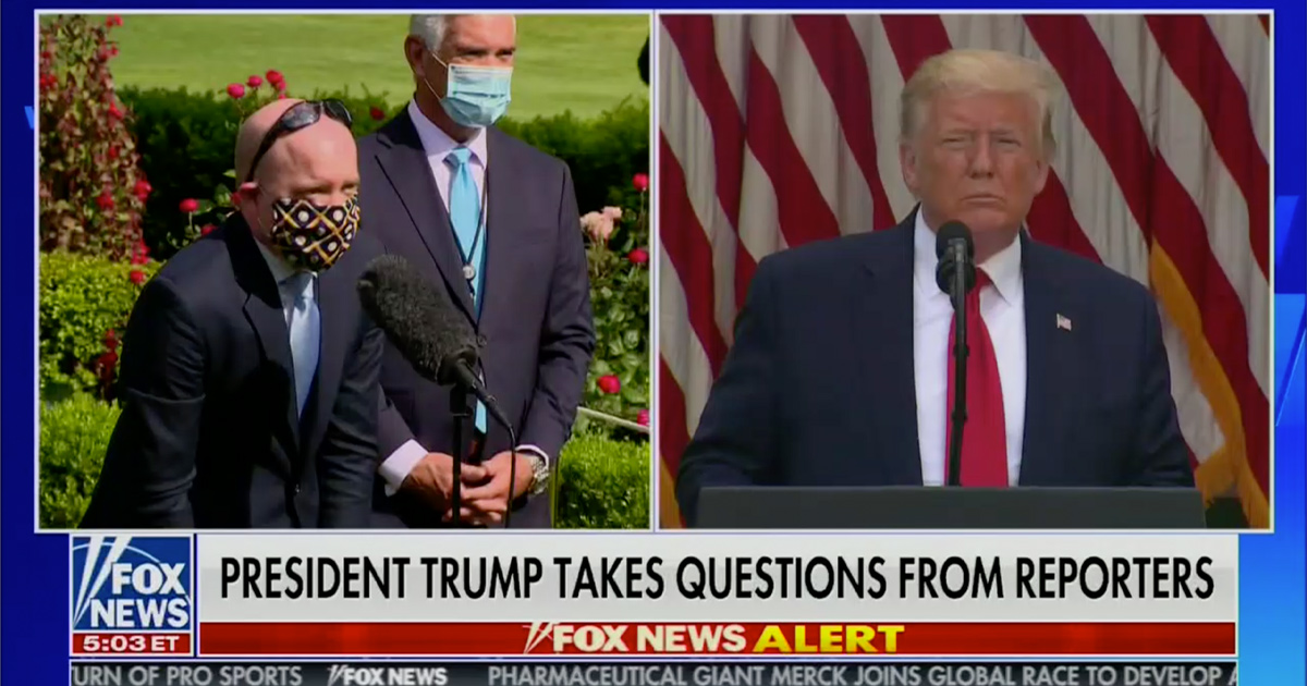 Trump Calls Reporter 'Politically Correct' Over Mask-Wearing