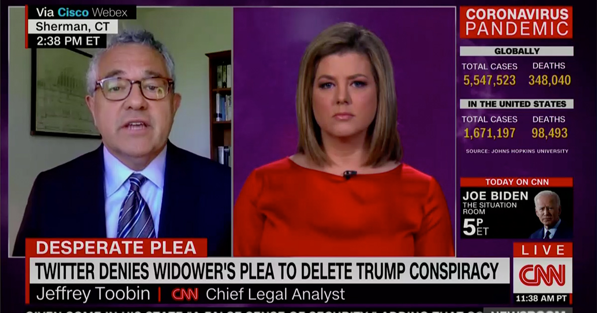 CNN's Toobin: 'If Twitter Had Any Decency' or Corporate Conscience, They Would Take Down Trump's Scarborough Tweets