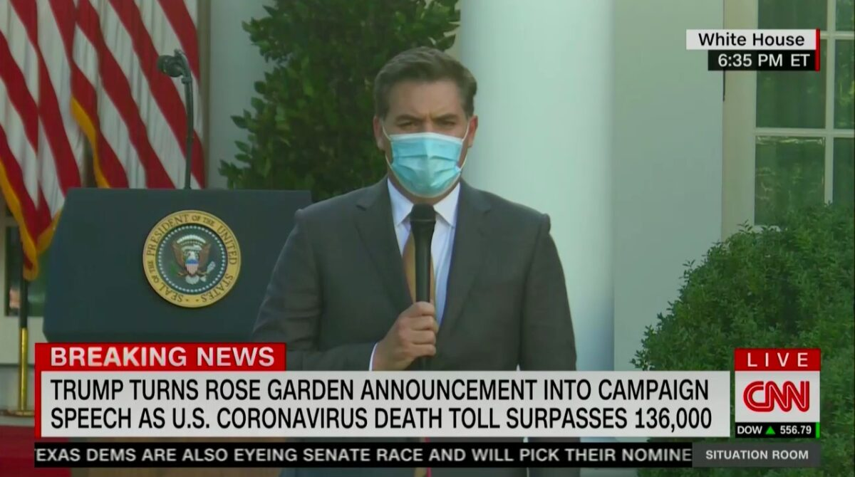 Jim Acosta Calls Out Trump Turning WH Speech Into Campaign Rally