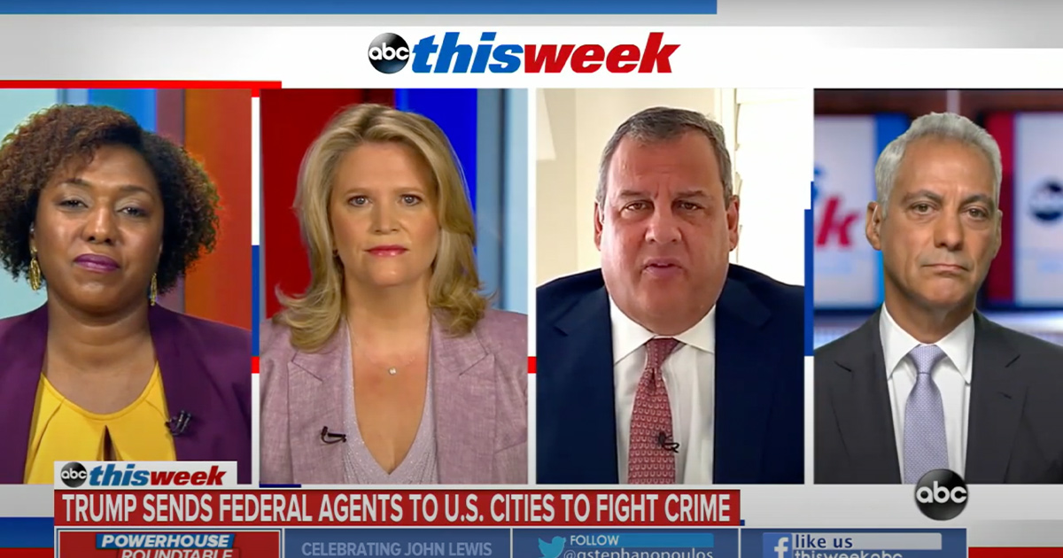 Chris Christie Defends Trump Sending Federal Agents to Cities