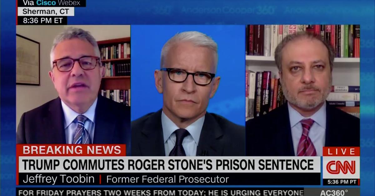 Jeffrey Toobin Rips Trump Over Roger Stone Commutation