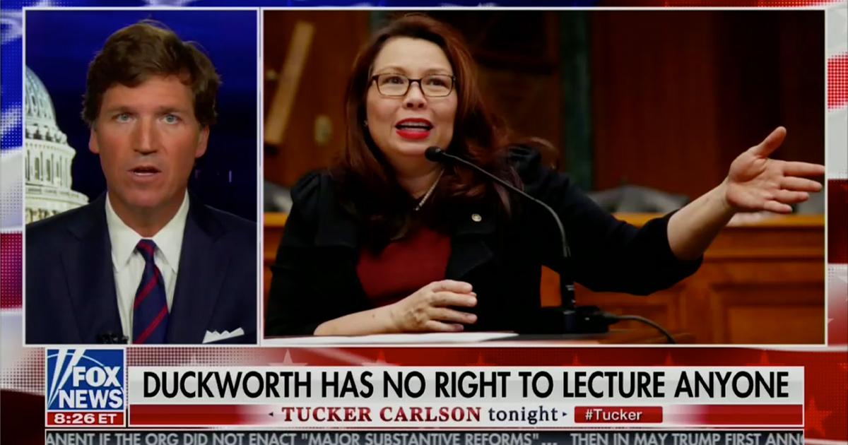 mediaite.com - Josh Feldman - Tucker Carlson Responds to Tammy Duckworth, Calls Her 'Moron