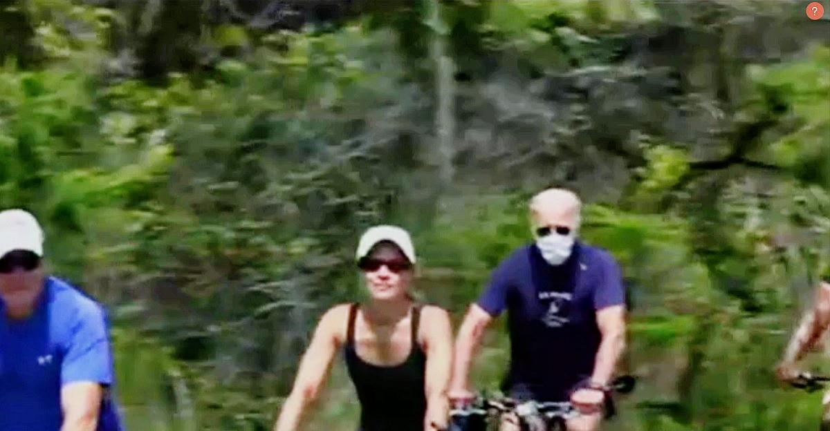 Joe Biden's Fox-Trolling Mask Bike Ride Sets Twitter Ablaze