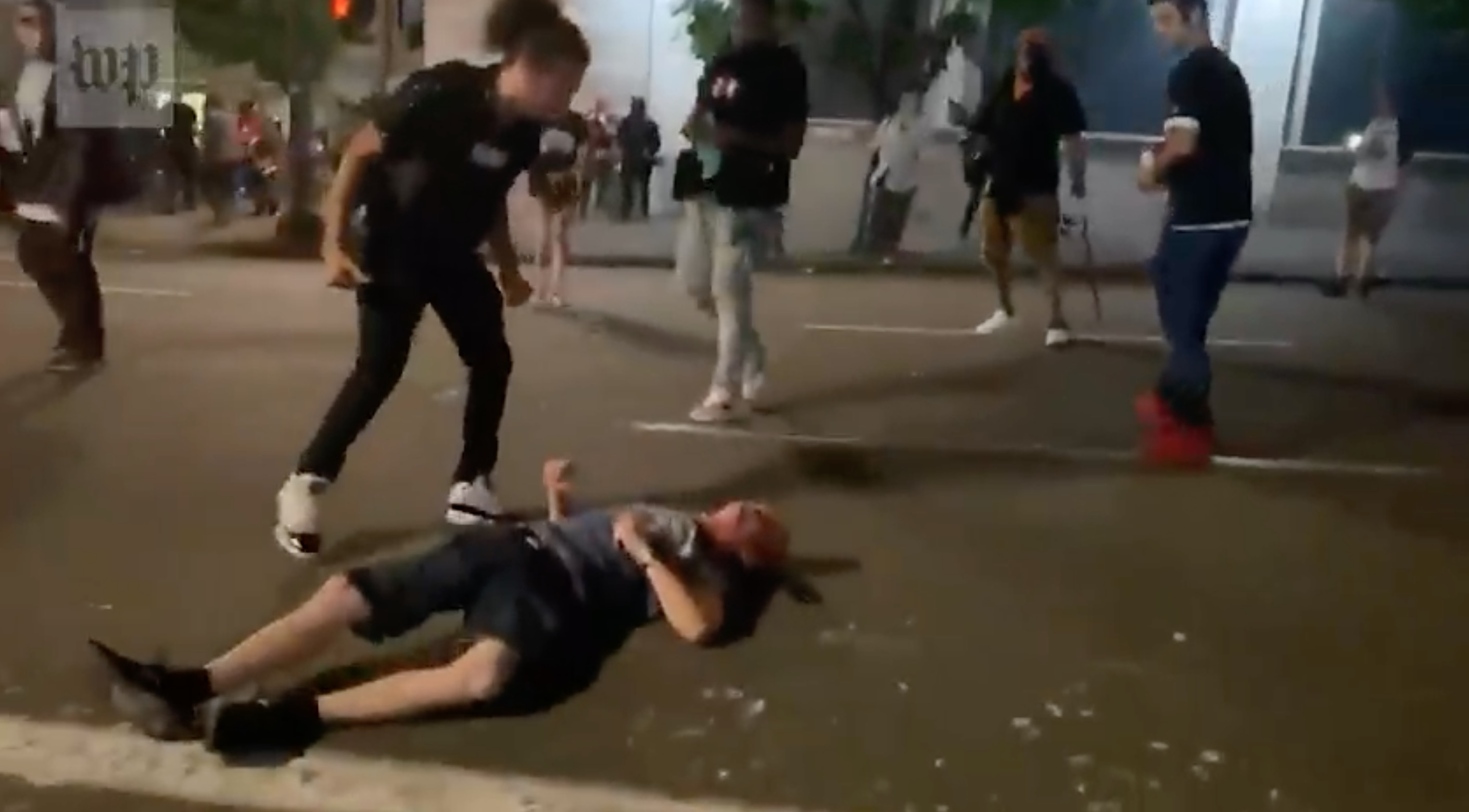 Portland Protesters Caught on Video Beating Man Unconscious Following Truck Crash
