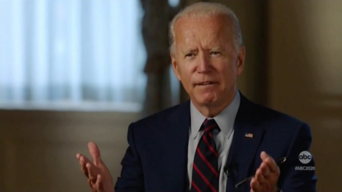 Joe Biden in denial about his sexist degrading womanizing