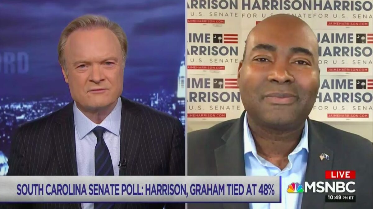 Dem Challenger Jaime Harrison Hits Sen. Graham for Ignoring SC Voters: 'Lindsey Just Wants to Sit with Sean Hannity Every Night or Fly Around on Air Force One'