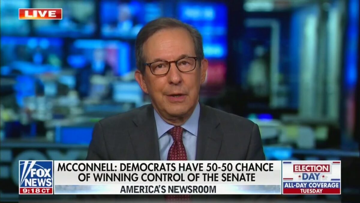 Fox's Chris Wallace Throws Cold Water on the Prospect of Democrats Taking the Senate: 'You Would Need a Blue Wave'