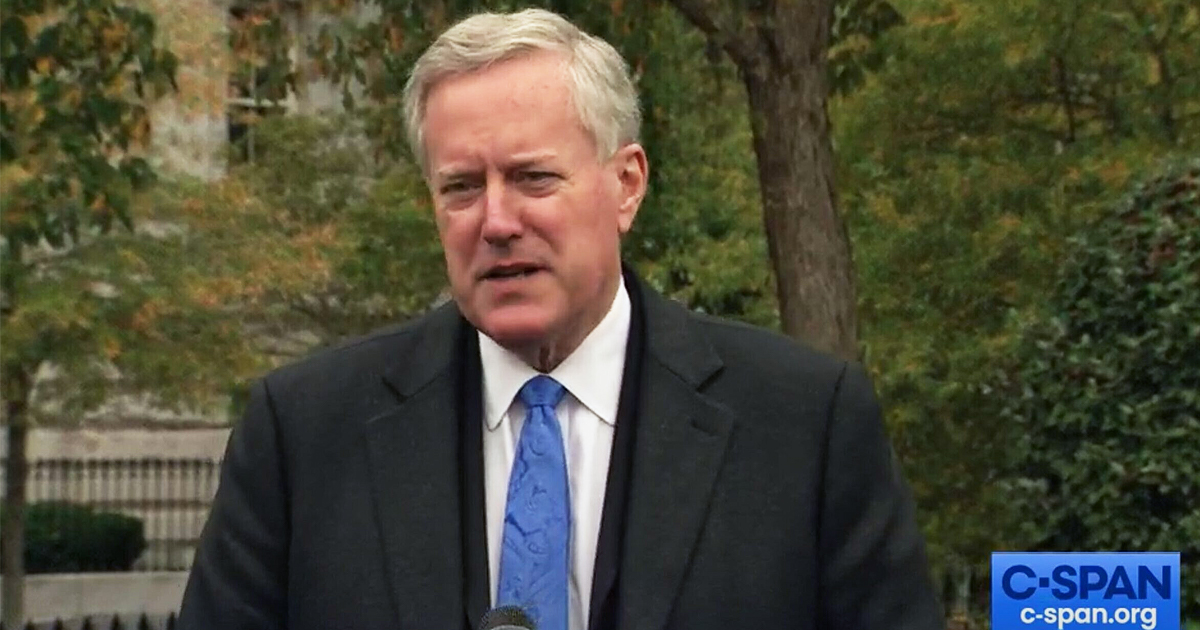 'Where is It?' Mark Meadows Promised 100 Million Vaccine Doses by End of October, and Twitter Hasn't Forgotten