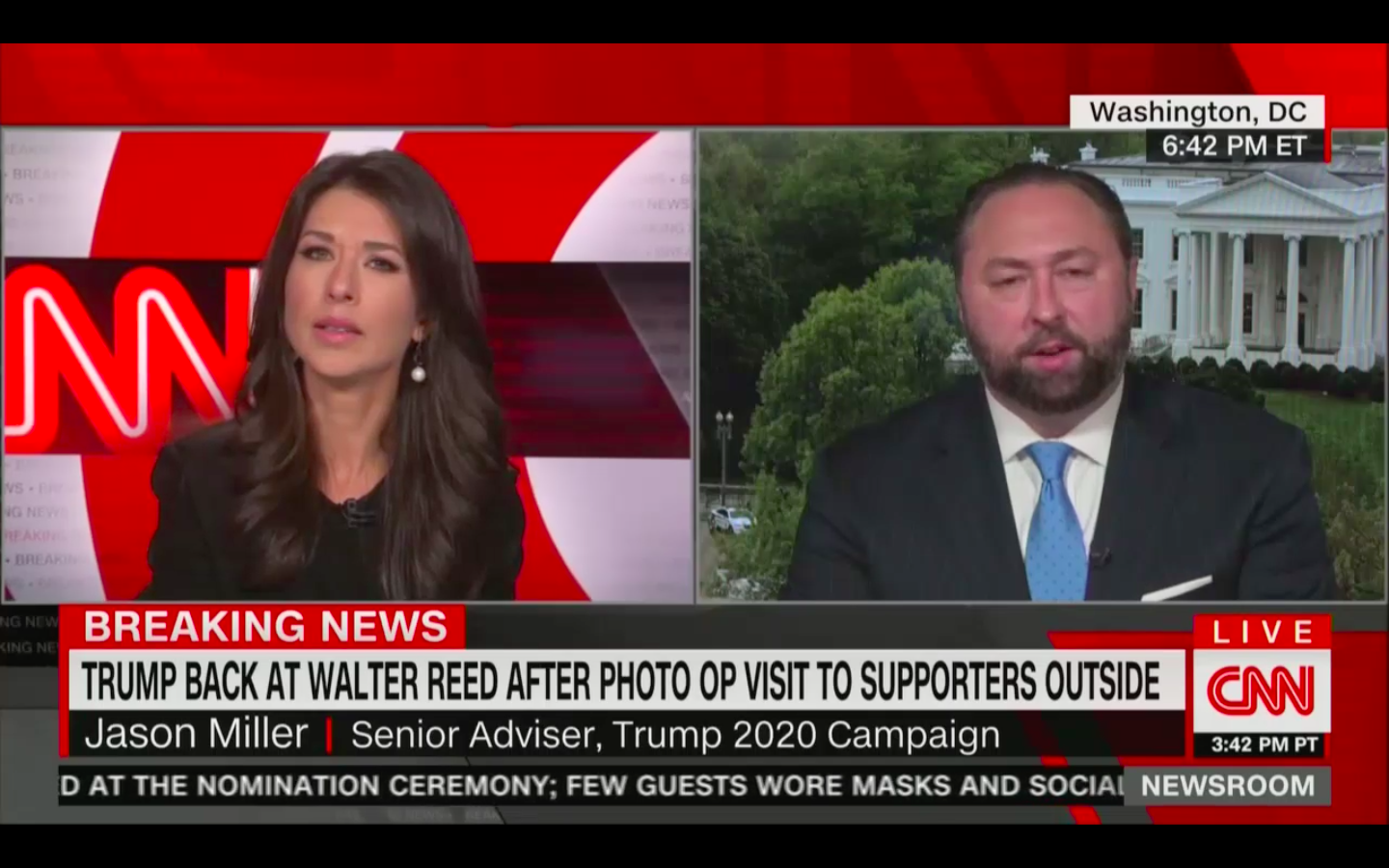 Ana Cabrera Confronts Jason Miller On Trump's SUV Photo Op and Plans for Future Rallies: 'How Is This Safe?'