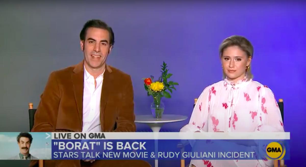 Sacha Baron Cohen Defends Borat Against Rudy Giuliani