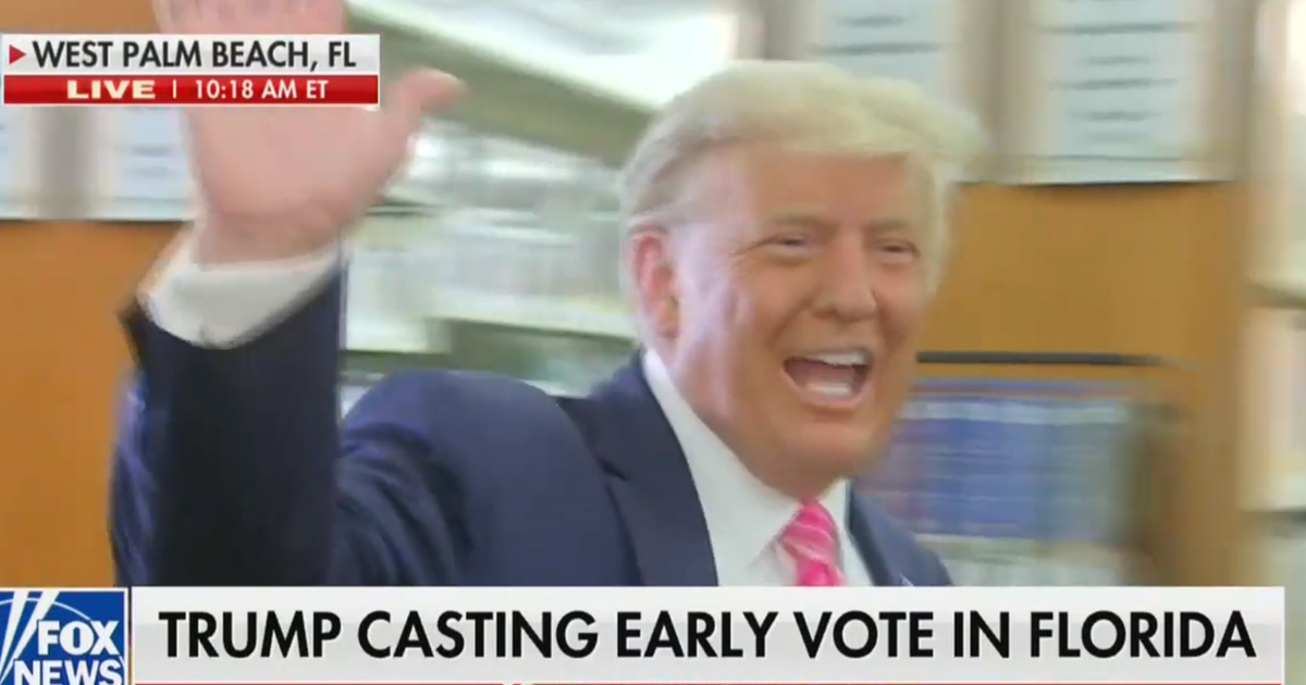 'I Voted for a Guy Named Trump' Says President After Casting Early Ballot in Florida