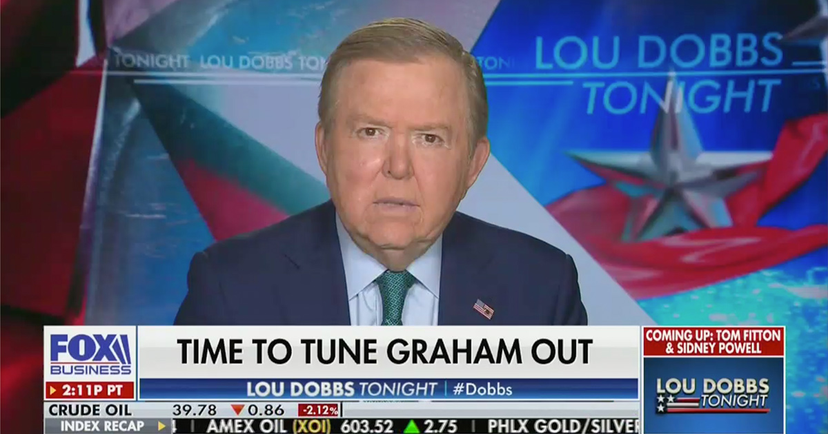 Lou Dobbs: Why Would Anyone Vote for Lindsey Graham?!