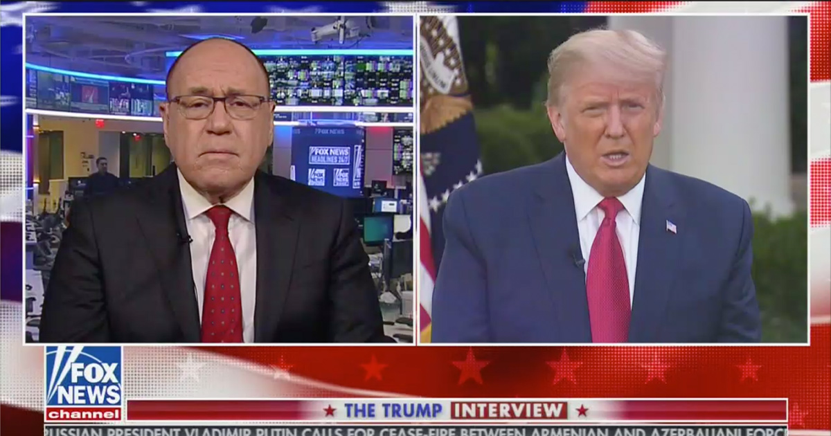 Trump Appears on Fox for Remote Interview on Covid Recovery With Fox's Dr. Marc Siegel, Says He 'Didn't Have a Problem With Breathing'