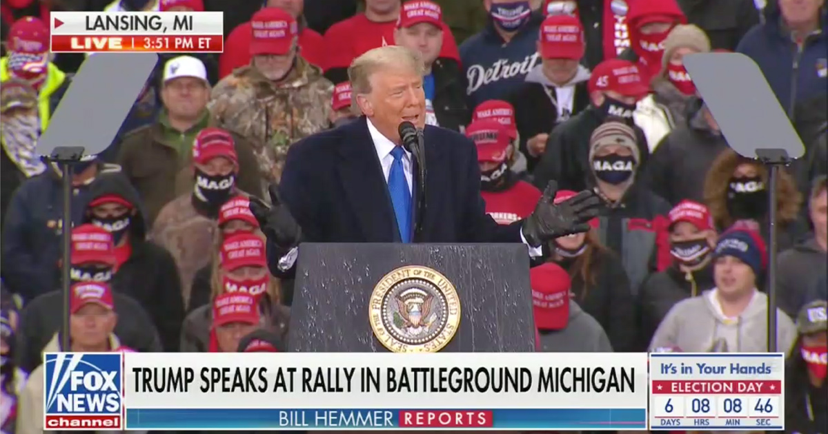 'Lock Her Up' Chants Break Out at Trump MI Rally as He Goes After Gov. Whitmer