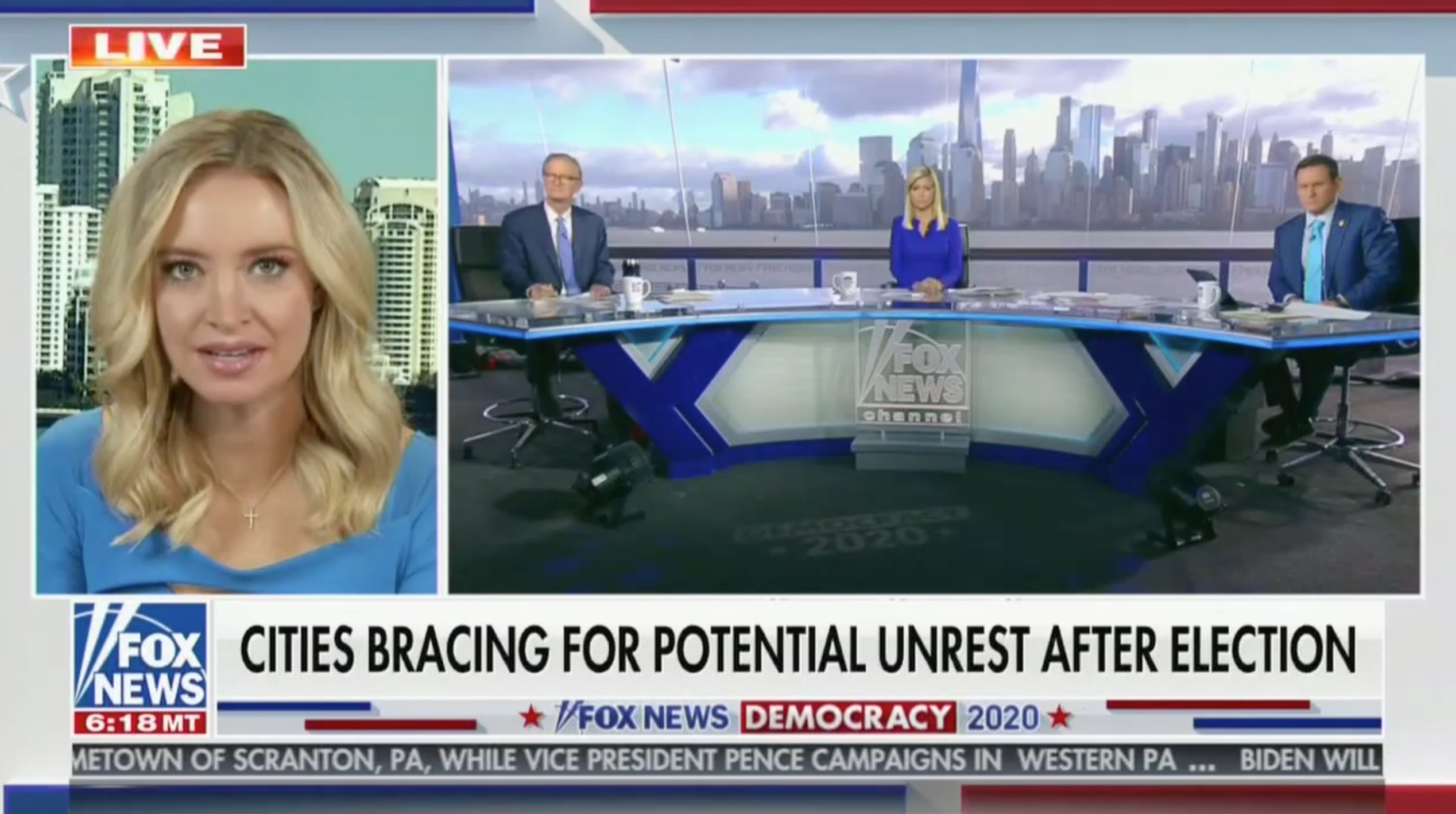 Kayleigh McEnany Claims 'Democrat Cities' Will 'Send The Left Out to Attack You' if Biden Loses